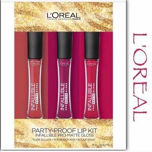 L'Oréal Infallible Pro Matte Gloss Lip Kit