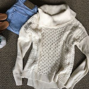 Cable Knit Cream Chunky Sweater