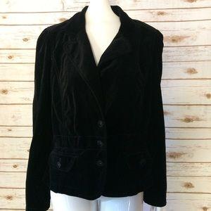 Ann Taylor LOFT Velour 3 Button Blazer Jacket Cute