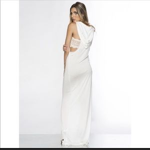 Peace, Love & World white maxi dress size small.