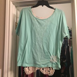 Tops - Mint too with lace backing