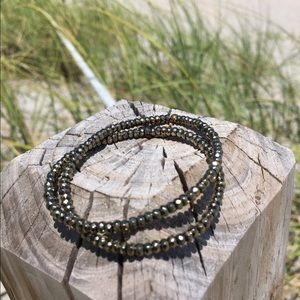 Pyrite stone bead bracelets