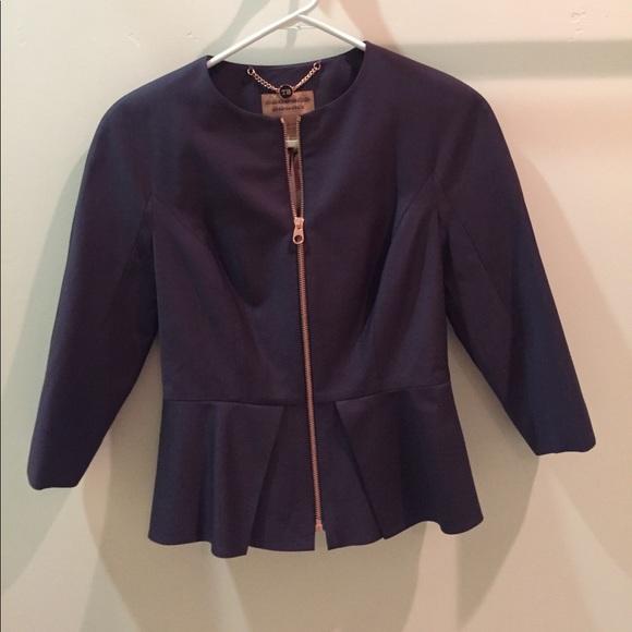 46d72a0df558ac NWT Ted Baker London LAVANTA peplum Suit jacket