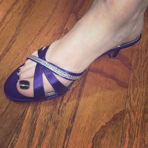 David's Bridal shorty heels