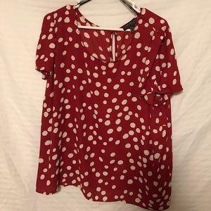 Polka dot red blouse