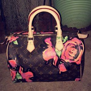 Painted Flower Bag