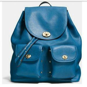 Coach Blue turnlock back pack