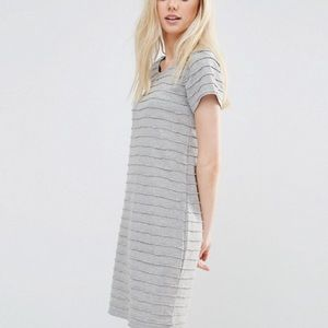 Women's ASOS Vila Textures Stripe Shift Dress