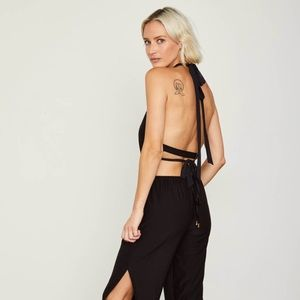 Hot As Hell HAH Black Halter Jumpsuit