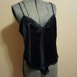 Vintage Intime Black Slip Camisole
