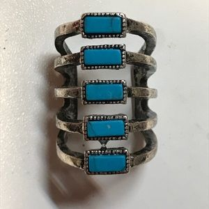 Gorgeous silver and turquoise ring