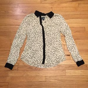 Anthropologie Maeve polka dot blouse - sz 0