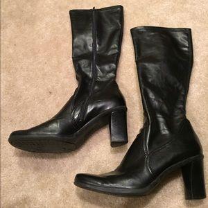 """Franco Sarto round toed comfort zipper 3""""heel boot"""
