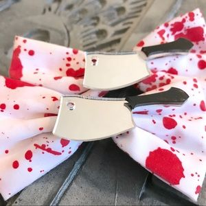 💀Bloody Cleaver Hair Bows