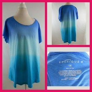 Boutique Brand Blue Hombre Tshirt Sz 1x