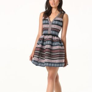 Bebe embroidered organza dress