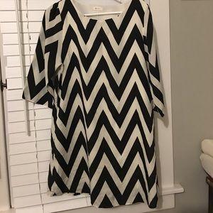 Cute black and white chevron dress