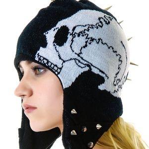 💀Too Fast Skull Mohawk Trapper Hat💀