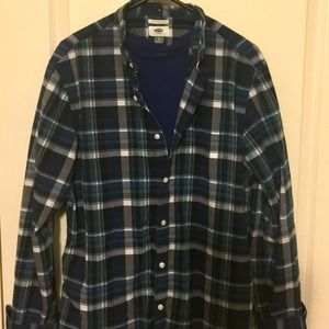 Old Navy long sleeve plaid button up shirt