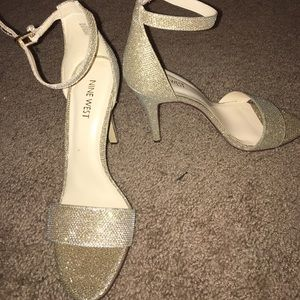 Sparkly gold Nine West heels