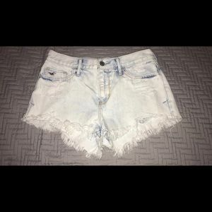 Hollister light washed distressed shorts