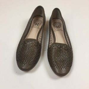 Vince Camuto Loafer Flats In Gray/Olive Green Sz 6