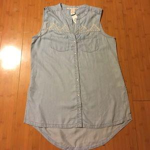 American Rag denim blouse