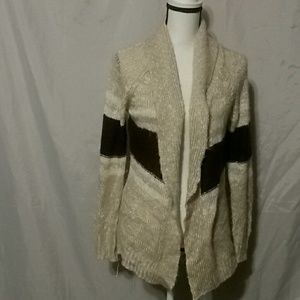 Open front color block cardigan small