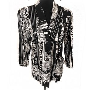 Amazing vintage 90's money Print blazer jacket