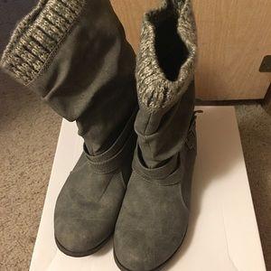 JustFab Morlan Half Boot Grey Size 9