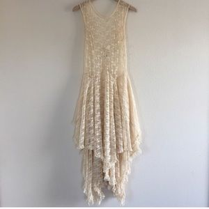 Lace Dress Urban Outfitters Romantic Off White