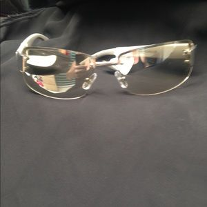 Nine West Silver & White Sunglasses