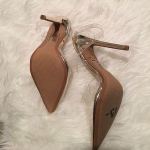 3691c9eef6e Shoe Republic LA Shoes -  Shoe Republic LA  Clear Pump w  Gold Heel