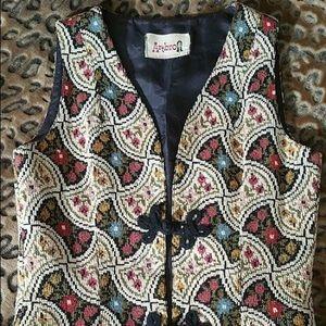 Vintage Boho Festival Gypsy Retro Tapestry Vest