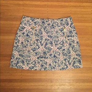 Lilly Pulitzer Marigold Skort Skirt Starfish EUC