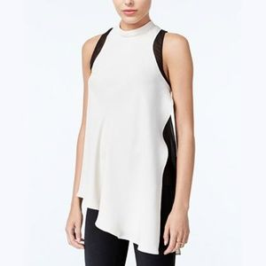 NEW Asymmetrical Colorblocked Top