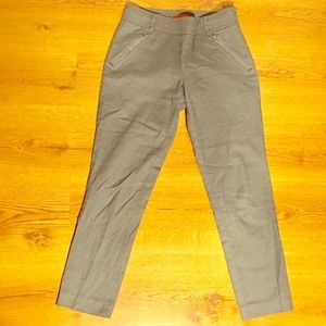 Anthropologie Cartonnier Grey Cigarette Trousers