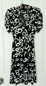 Carole Little Black and White Empire Waist Dress