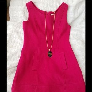 Tulle Hot Pink Wool Dress