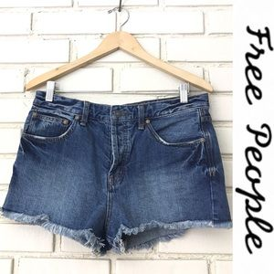 Free People - Soft and Relaxed Jean Cutoff Shorts
