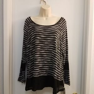 Style & Co Striped Blouse Petite Sz PXL SW1