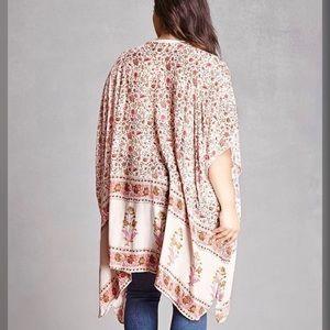Forever 21 Tops - Floral Kimono Cardigan
