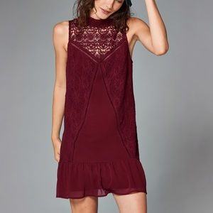 Abercrombie & Fitch high neck lace shift dress