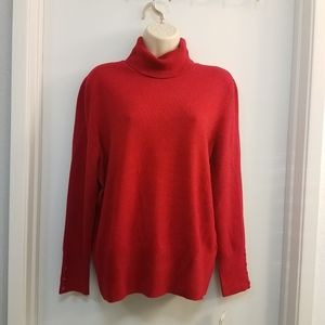 Mock Neck Classic Sweater PXL Red Brown