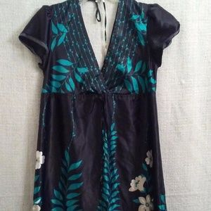 Guess Jeans Black Floral Dress- Size Medium