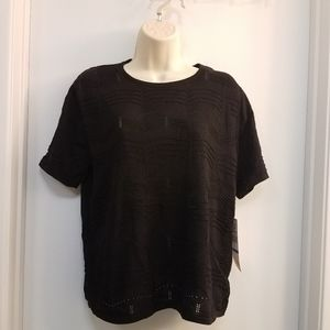 Alfred Dunner Top PatternBlouse Black PXL PL PM PS