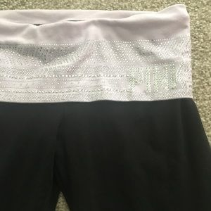 Victoria's PINK studded fold over yoga pant SZ SM
