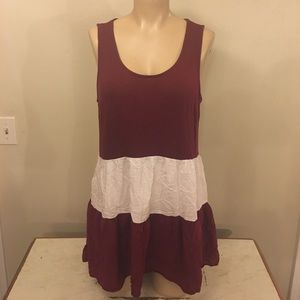 Adorable Umgee Maroon Gypsy Girl Midi Dress Boho