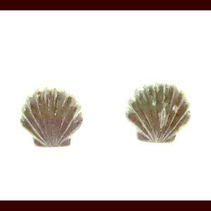 Sterling Silver Seashell Post Earrings