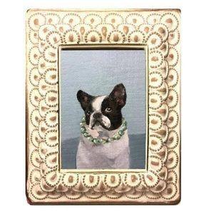 French bulldog painting vintage framed dog pet